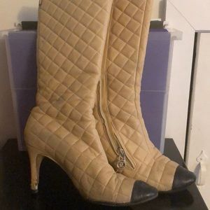 Authentic CHANEL classic quilted boots. Gorgeous